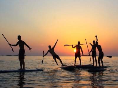 Paddle surf equipment rental 1 hour in Ibiza