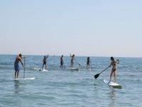 桨冲浪的路线在卡迪士