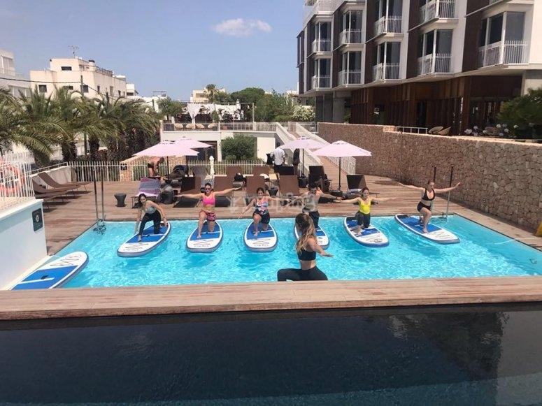 Pilates en SUP Ibiza