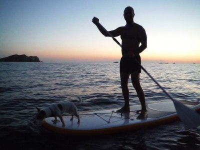 Paddle surf route full moon in Ibiza 2 to 3 h
