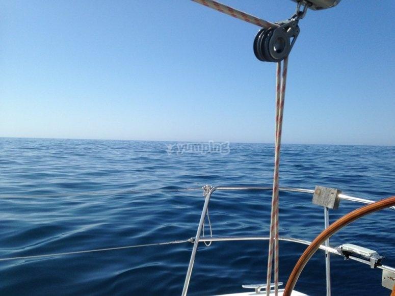 Barco en Altea