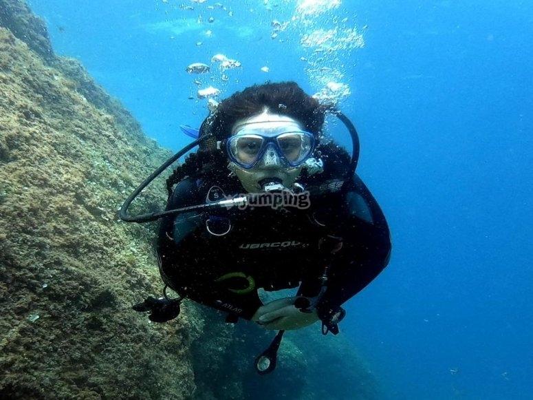 Bucear Lloret de Mar Scuba Diver