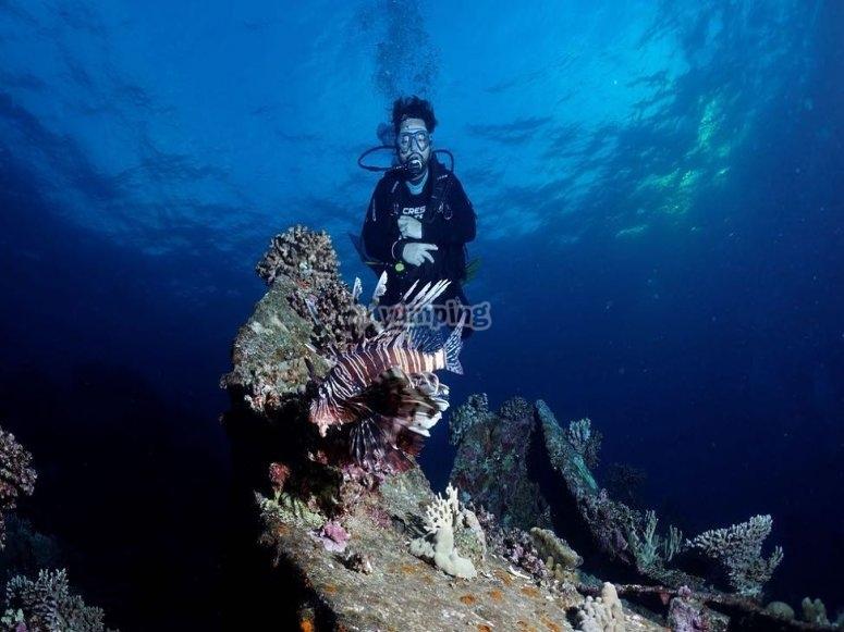 滨海略雷特(Lloret de Mar)的AOWD潜水冠军