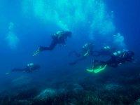 在30米深处潜水