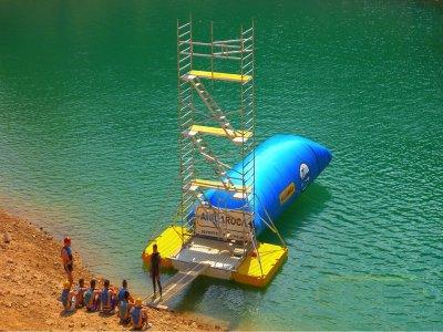 Salto de Blob jump en Embalse de Contreras 3h