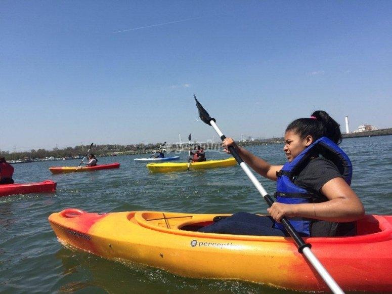 Ruta en kayak playa Lisa