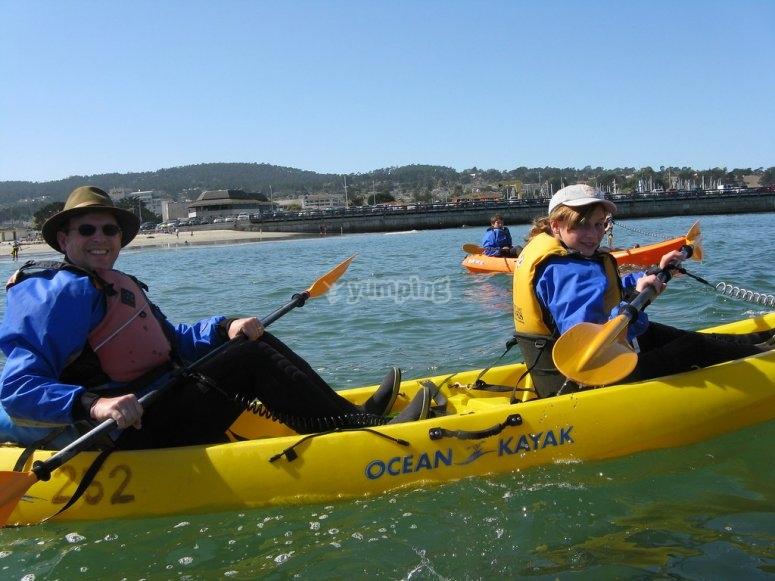 Alquiler kayak biplaza playa Lisa