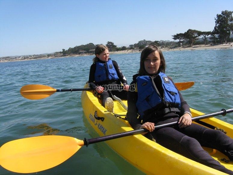 Salida en kayak familiar playa Lisa