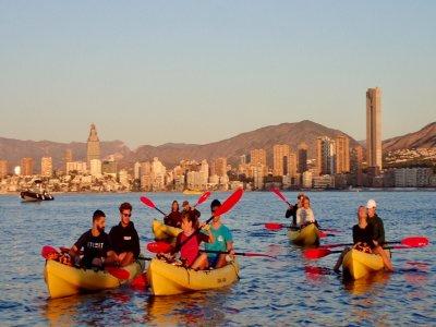 Tour en kayaks dobles por Bahía de Benidorm 2 h