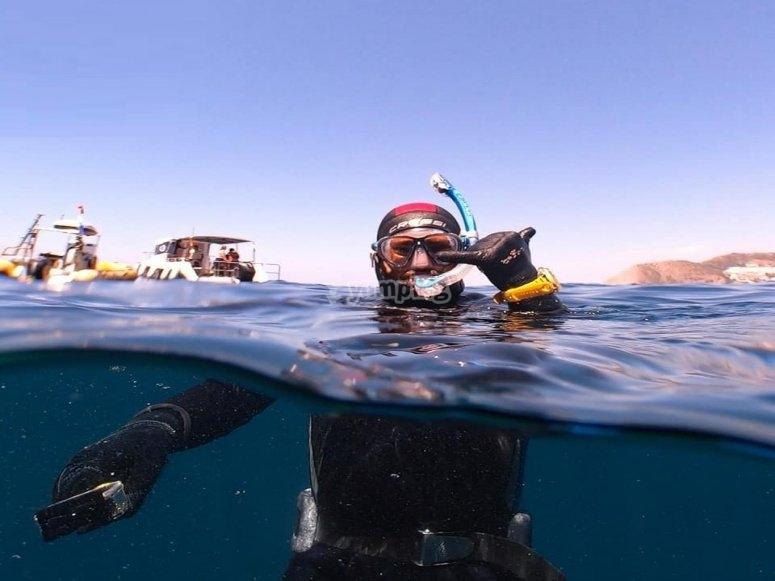 发现潜水普拉亚伯纳纳的潜水