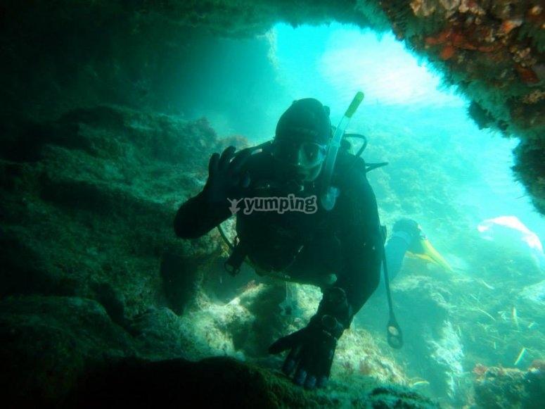 Rincones马拉加热爱潜水的人