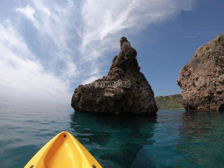 Paseo en kayak desde Playa Burriana
