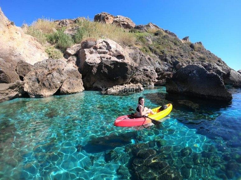 Alquiler kayak monoplaza Nerja 1 hora