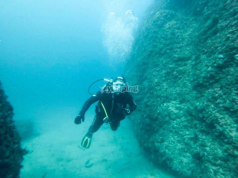 Curso de buceo en la costa de Nerja