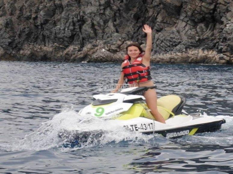 爱上特内里费-乘坐摩托艇