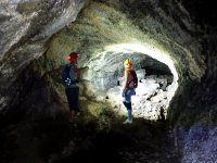 Guided caving route in Tenerife