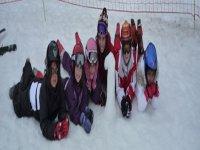 照片楔做我们的小滑雪者滑雪显示器