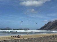 Pronto per un campo di kitesurf