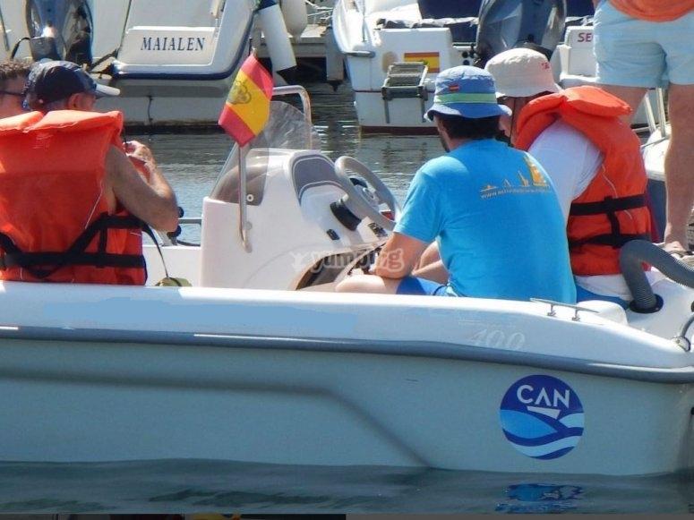 Paseo en barco bahía Santander
