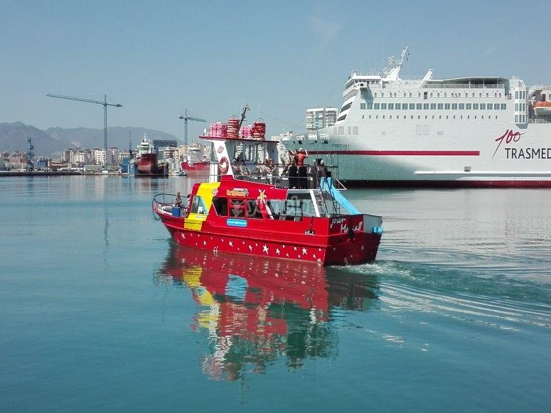 离开港口Almería