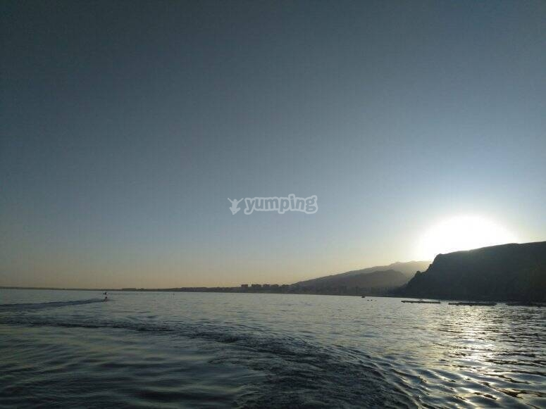 Boat trip for 10 people in Roquetas