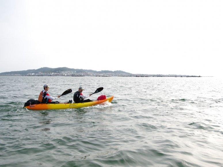 Ruta en kayak por aguas coruñesas