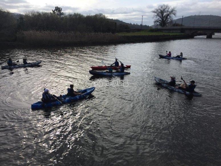 Surcando Ponteceso en kayak
