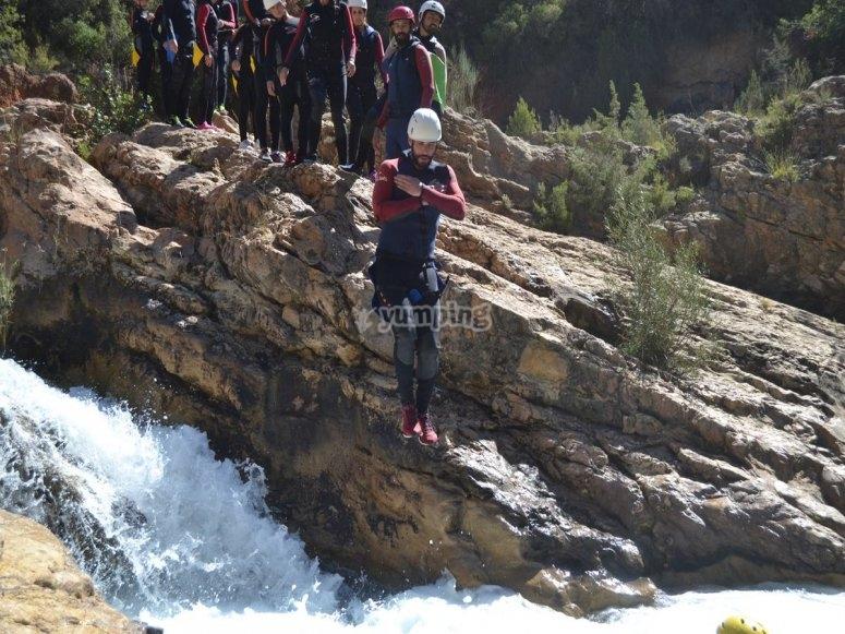 Salto en el barranco de Las Chorreras