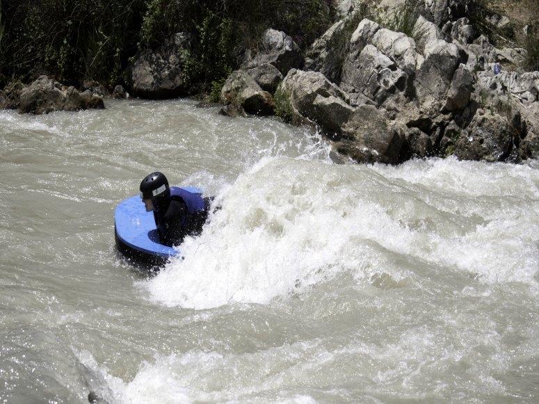 Giro delle rapide del Genil in slitta d'acqua
