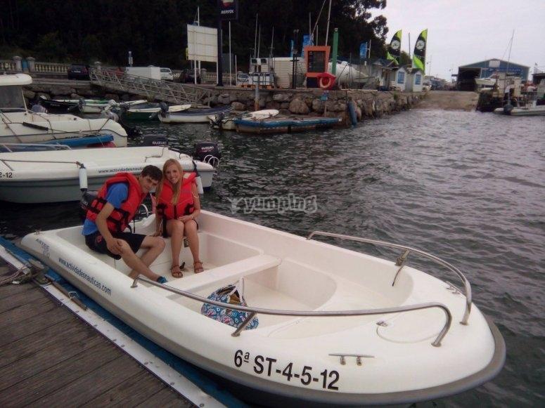 Momenti prima dell'itinerario da Puerto de Santader