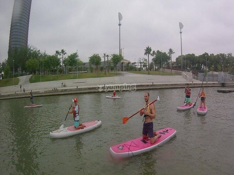 Jornada sevillana de paddle surd