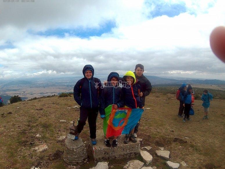 Llegando a la cima del monte Txurregi