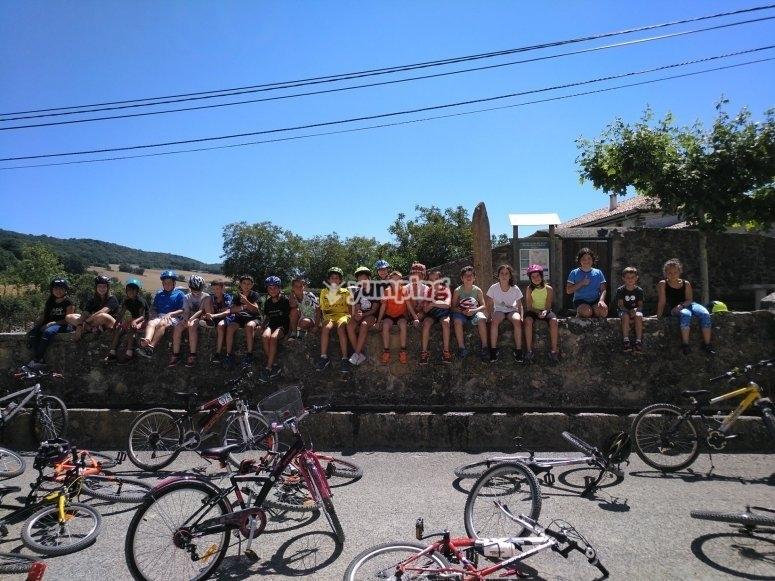 Ruta en bici de motaña por el valle de Ollo