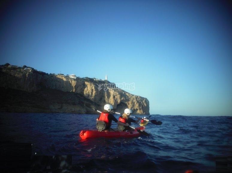 Ruta en kayak por Cabo de la Nao
