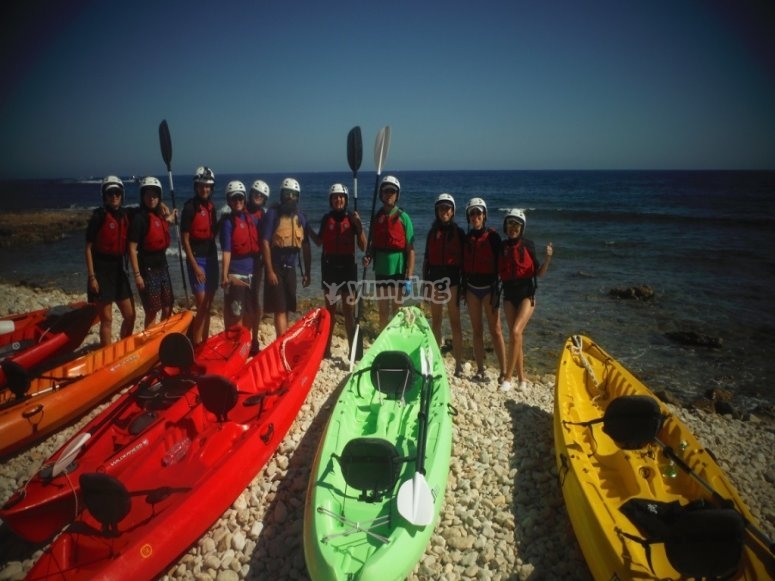Salida en kayak desde playa Dénia