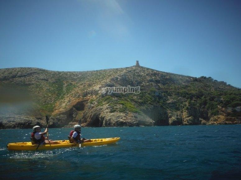 Paseo en kayak por la Torre del Gerro