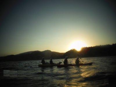 Tour en kayak al atardecer Cala Granadella 4 horas