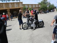 On a motorcycle rally