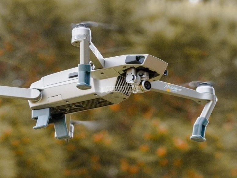 无人机记录活动弹弓