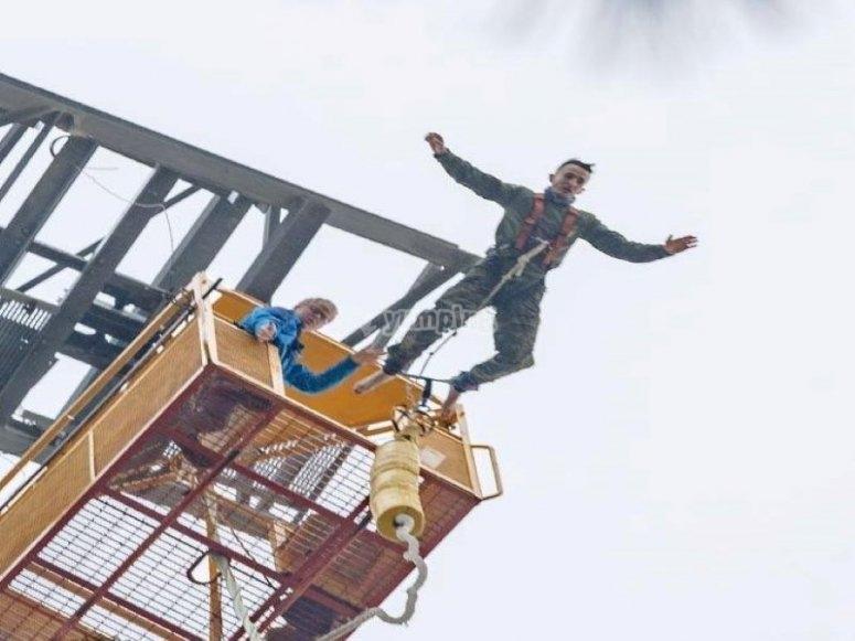 70 metros de caída libre en Barcelona