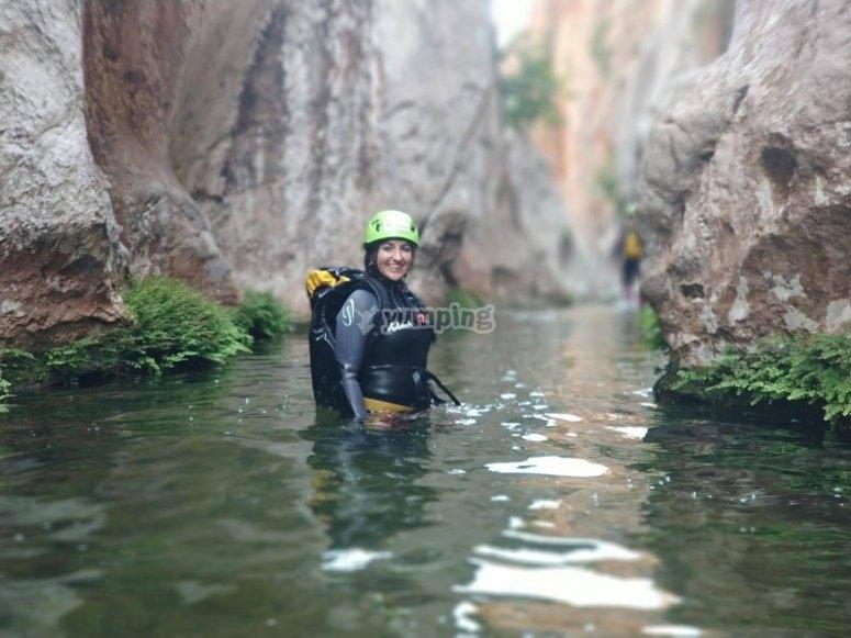 El cañón acuático de Coanegra