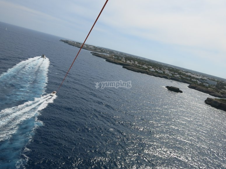 Bird's-eye-view from the parasail