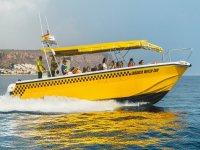 Salida barco taxi Tabarca y material de snorkel