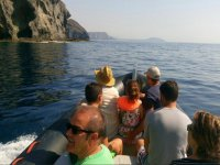 Las Negras by boat with the family