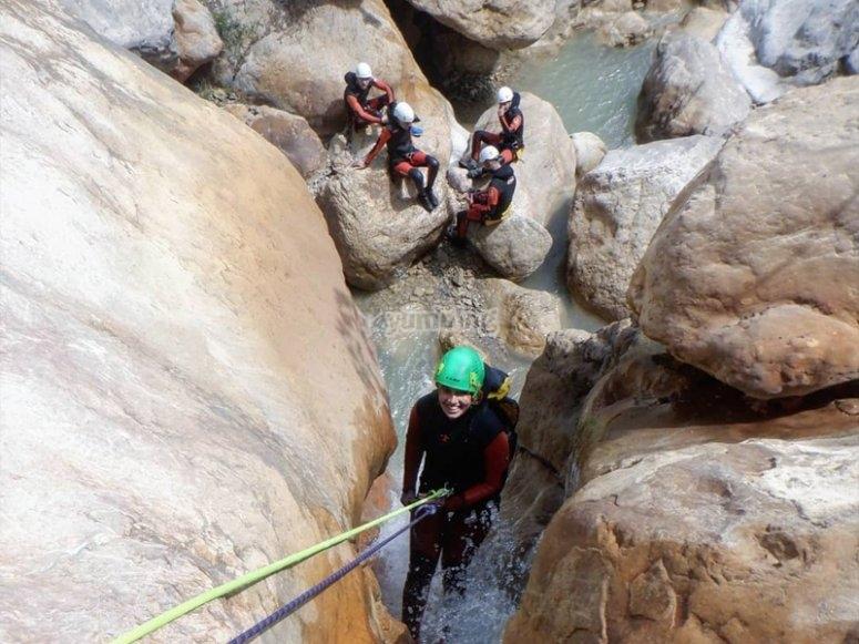 Descenso del Barranco de Torrent de la Corba en Bruguera