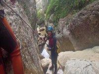 Pas de l'Escalell 5h的中级峡谷漂流