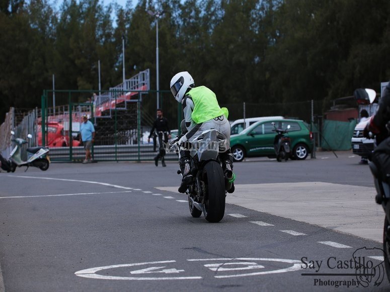 Saliendo de pista en Circuito Maspalomas