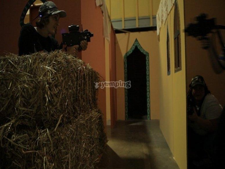 Arab village laser tag stage