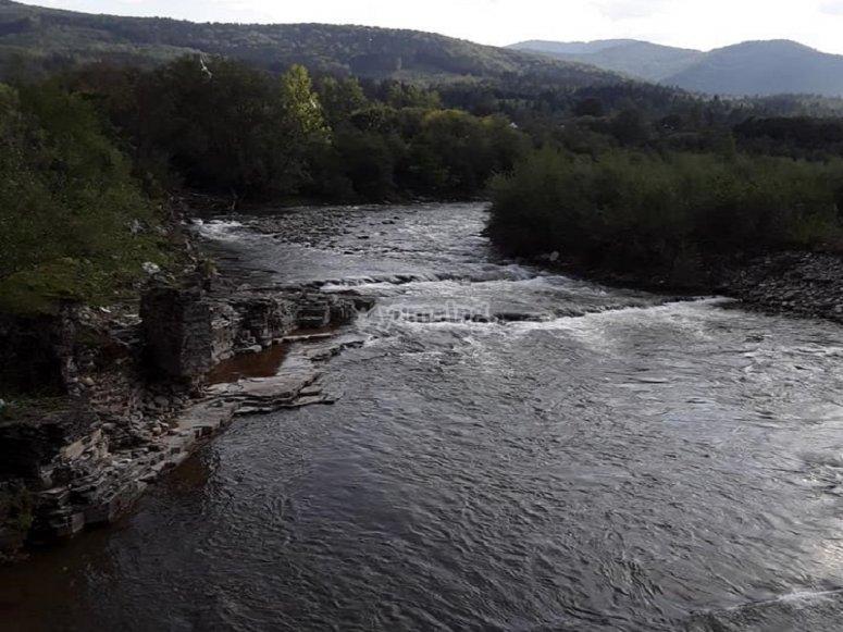 Río Noguera Pallaresa al atardecer