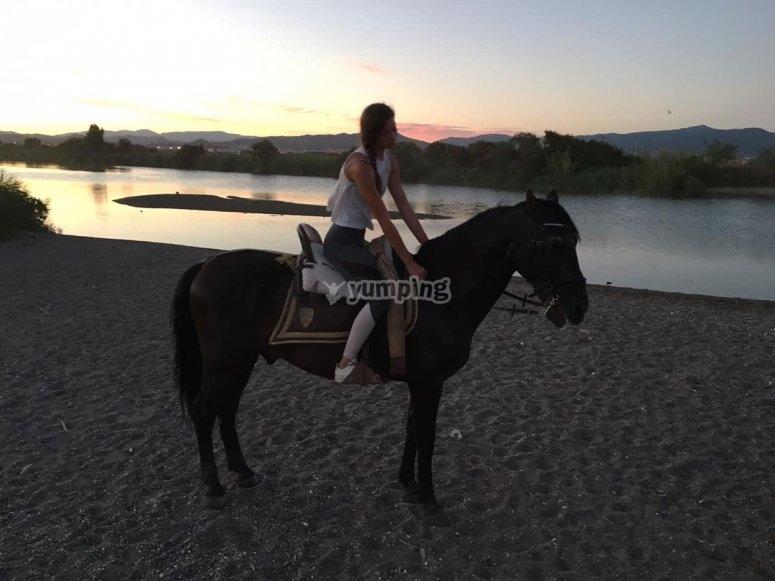 Paseo a caballo nocturno en Torremolinos